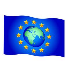 eu stars and globe vector image