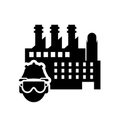 Factory worker icon vector