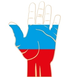 Flag to russia on palm vector