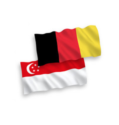 Flags belgium and singapore on a white vector