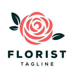 Florist logo design inspiration vector