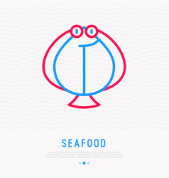flounder thin line icon vector image