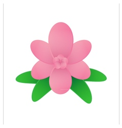 Flower on white background vector