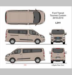 Ford transit tourneo custom van l2h1 2018-2019 vector