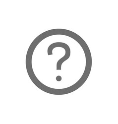 Frequently asked questions faq grey icon vector