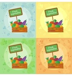 Fresh vegetables all seasons vector