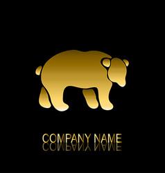 golden bear symbol vector image