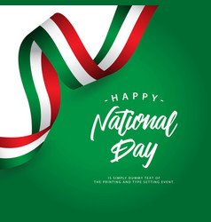 happy italy national day template design vector image