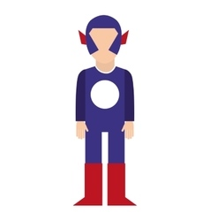 hero character comic isolated icon vector image