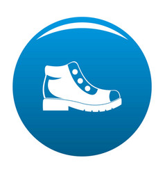 hiking boots icon blue vector image