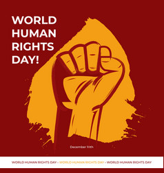 Human rights day with maroo vector