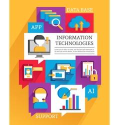 Information technologies poster vector