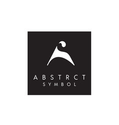 initials sa as abstract elegant fashion logo vector image