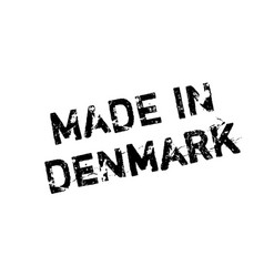 Made in denmark rubber stamp vector