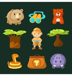 Male Jungle Explorer Collection vector