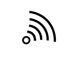 Mall wifi sign icon vector