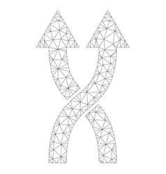 Mesh shuffle arrows up icon vector