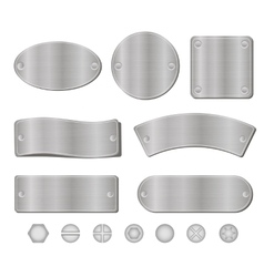 Metal plates set vector image