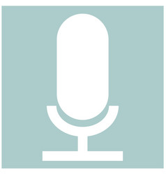 Microphone the white color icon vector