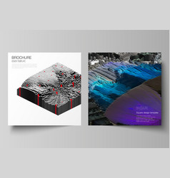 minimal layout of two square format covers vector image