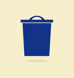 modern garbage bin and trash object set suitable vector image