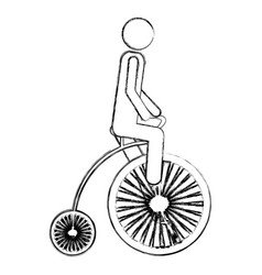 Monochrome sketch pictogram of man in penny vector