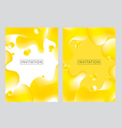 pastel yellow creative fluid style poster vector image
