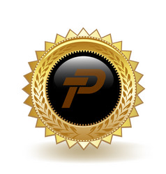 Paypex cryptocurrency coin gold badge vector