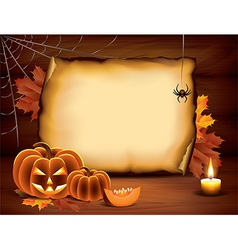 Pumpkin paper halloween vector