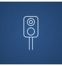 Railway traffic light line icon vector image