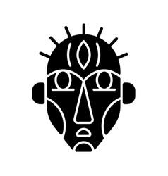 Ritual masks black glyph icon vector