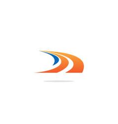 Road pathway curve logo vector