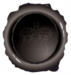 Royal wax seal vector
