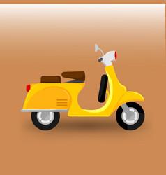 scooter bike transportation vector image