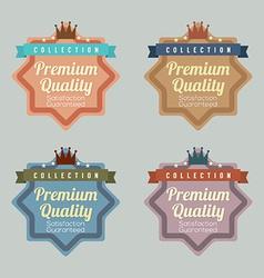Set of Vintage Retro Labels vector image