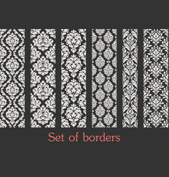 set seamless borders border decoration vector image