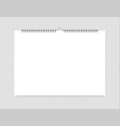 sheet of paper with spiral on a isolated vector image