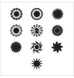 Silhouette sun 2 vector