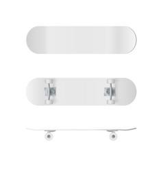 skateboard template realistic skateboard mockup vector image