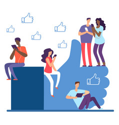 social network and international people like vector image