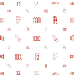 timber icons pattern seamless white background vector image
