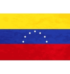 True proportions Venezuela flag with texture vector image