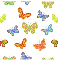 Types of butterflies pattern cartoon style vector