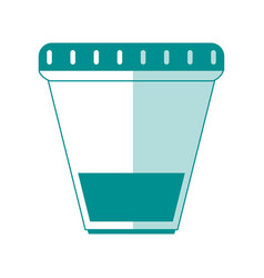 Urine sample cup healthcare related icon image vector