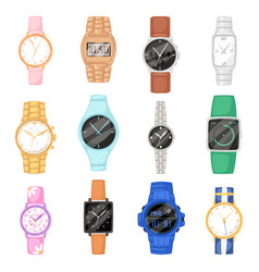 Watch wristwatch for businessman or fashion vector