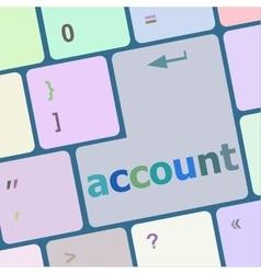 white account enter key vector image
