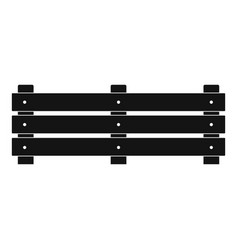 wide fence icon simple style vector image