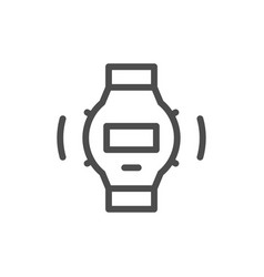 wrist watch line icon vector image