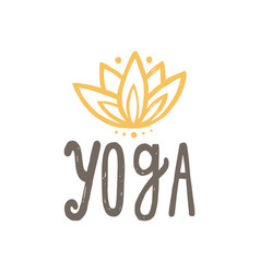 Yoga and lotus vector