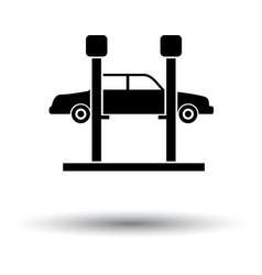 car lift icon vector image vector image